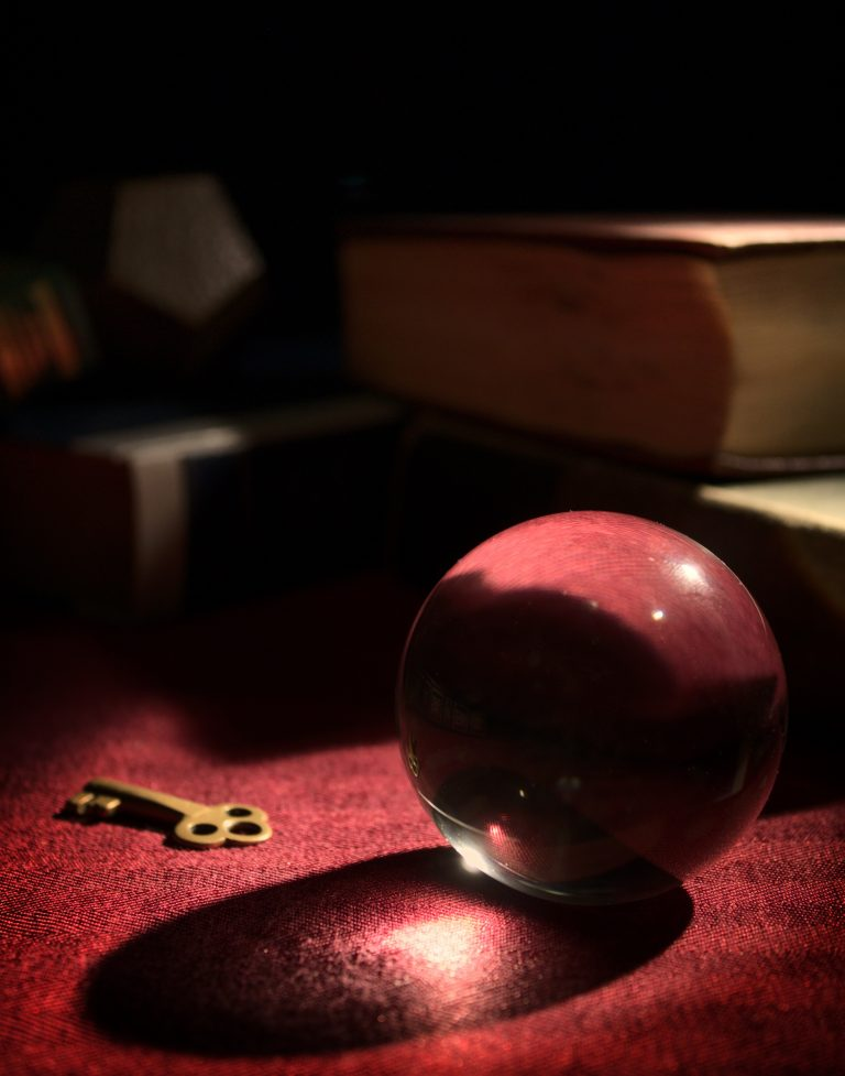 red crystal ball